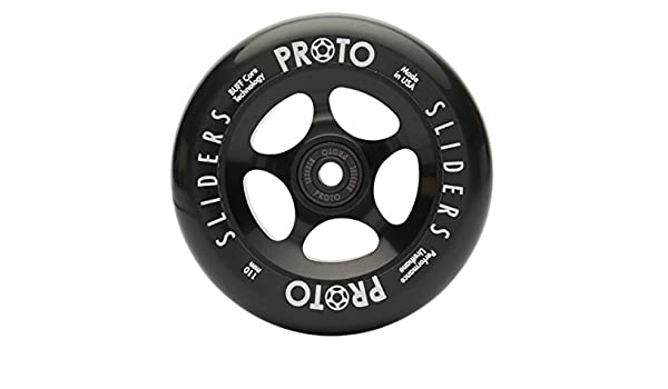 Proto Slider - Ruedas para patinete (110 mm), Black with ...