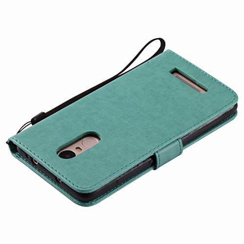 Yiizy Xiaomi Redmi Note 3 / Redmi Note 3 Pro Custodia Cover, Albero e Gatti Goffratura Design Sottile Flip Portafoglio PU Pelle Cuoio Copertura Shell Case Slot Schede Cavalletto Stile Libro Bumper Pro