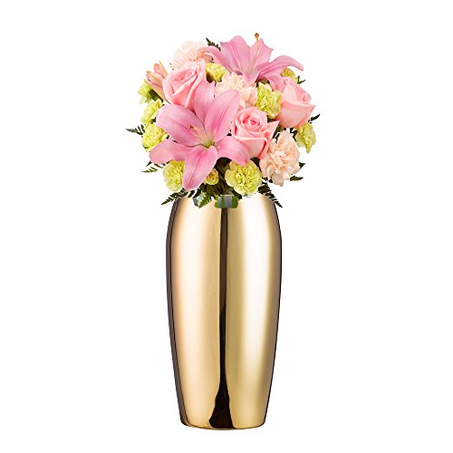 IMEEA Flower Vase Decorative Centerpiece for Home Wedding SUS304 Stainless Steel, 9.4