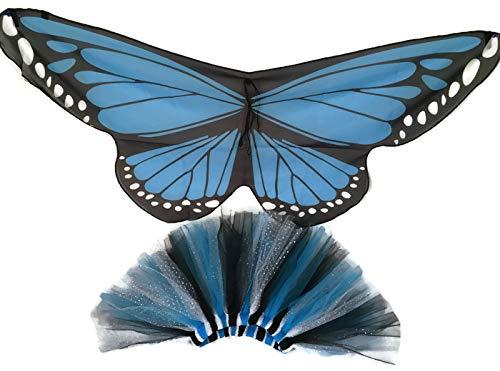 Monarch Butterfly Tutu Set-Blue-Butterfly-Halloween-Christmas-Butterflies-Recital-Butterfly Wings-Birthday-Princess-Purple Butterfly -