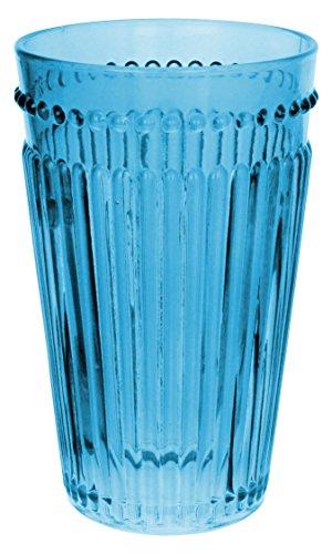 Zrike Brands Opulence Highball Glass, Blue, Set of 4