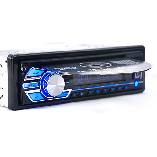 Alondy 1 DIN 12V Car Stereo Headunit CD DVD Player Radio MP3 / USB /SD/ AUX / FM / iPod / iPhone (Car Player Din Dvd 1)