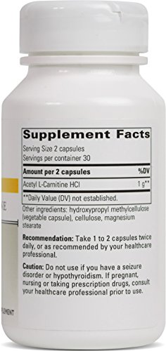 Integrative Therapeutics Acetyl L carnitine, 500 mg, 60 Capsules