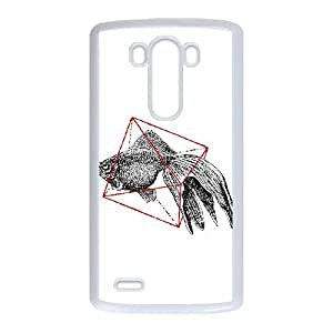 LG G3 Cell Phone Case White FISH IN GEOMETRICS WH9467071