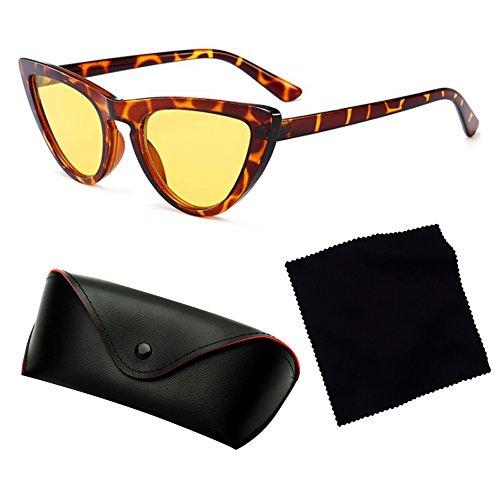 Triangle C4 petites lunettes UV400 de Vintage juqilu lunettes femmes Cat élégant lunettes Cateye Eye soleil 6x7xAwq