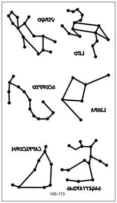 Aiming 12 Constellation - Pegatinas de Tatuaje Fluorescentes ...