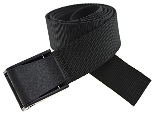 Big & Tall Titan Belt Made in USA by Thomas Bates (Black) by Thomas Bates Designs
