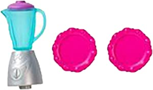 Barbie Replacement Parts Dollhouse Product Series Hello Dreamhouse | DPX21 / FDR22 ~ Replacement Accessory Bag - Contents: Blender Base, Blender Lid, Blender Pitcher & Pink Plates