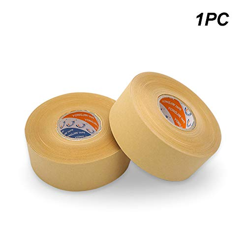Writable Kraft Flatback Paper Tape - Brown Self-Adhesive Picture Frame Backing Tape Rolls - Covering up Writing&Markings on Reused Boxes,Packaging,Sealing Cartons(50mmx50M)