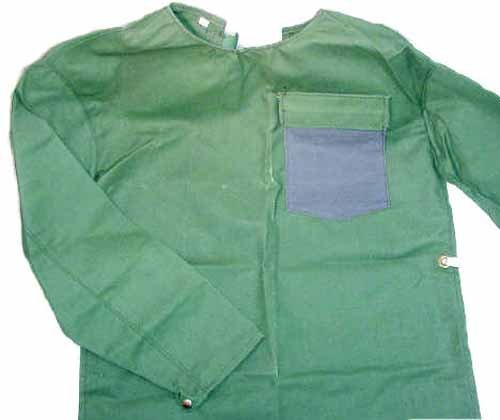 - Fire Resistant Welding Safety Jacket Green Open Back Medium