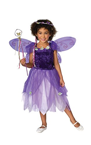 Child's Plum Pixie Costume, Medium - Purple Velvet Dress Costume