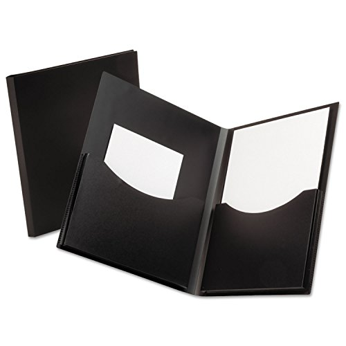 Oxford 57454 Poly Double Stuff Gusseted 2-Pocket Folder, 200-Sheet Capacity Black ()
