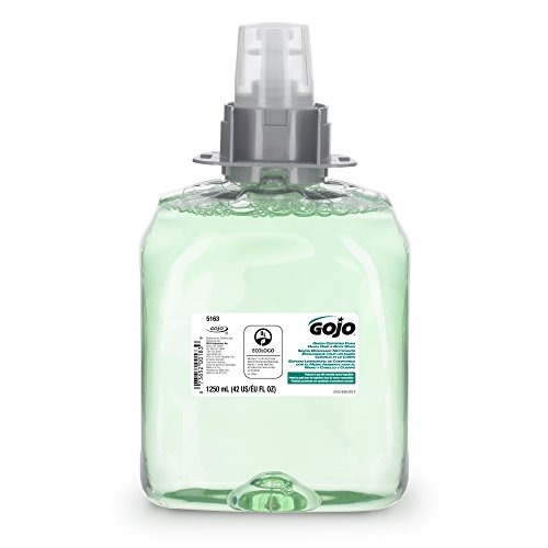 Price comparison product image GOJO 516303CT Luxury Foam Hair & Body Wash,  1250mL Refill,  Cucumber Melon Scent,  3 / Carton