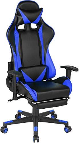 Meublele-Cosy-Escritorio-de-Juegos-Altura-Ajustable-Ajustable-Giratorio-360-Grados-Color-Azul