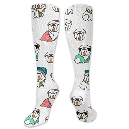 English Bulldog Humor Dress Socks Funny Stockings Crazy Socks Casual Cotton Socks]()