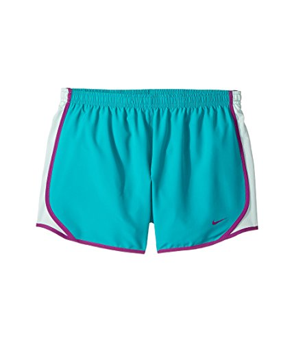 NIKE Girl's Dry Running Tempo Shorts (Turbo Green, Small)