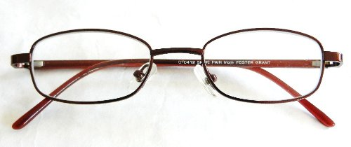 (2 PACK) Foster Grant +2.25 Maroon Gunmetal Wire Frame Reading Glasses - Glasses Maui Frames