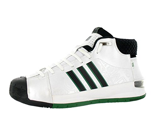Adidas Men's AST TS Pro Model Player Basketball Shoe Black/White/Green (15)