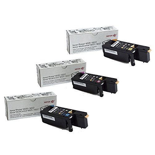Xerox 106R02756, 106R02757, 106R02758 Standard Yield Toner Cartridge Set Colors Only (CMY)