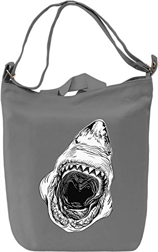 Jaws Borsa Giornaliera Canvas Canvas Day Bag| 100% Premium Cotton Canvas| DTG Printing|