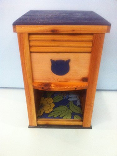 Cedar Dogproof Cat Feeder by STABOB'S HANDCRAFTED PET HOUSES
