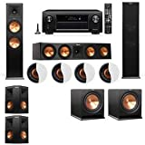 Dolby Atmos 5.2.4 Klipsch RP-280F Tower Speakers R112SW with Denon AVR-X4200W