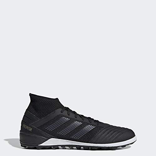 adidas Men's Predator 19.3 Turf Soccer Shoe, Black/Gold Metallic, 9 M US (Artificial Turf Soccer)