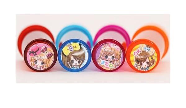 Set minisellos kawaii niñas japonesas en colores: Amazon.es: Juguetes y juegos