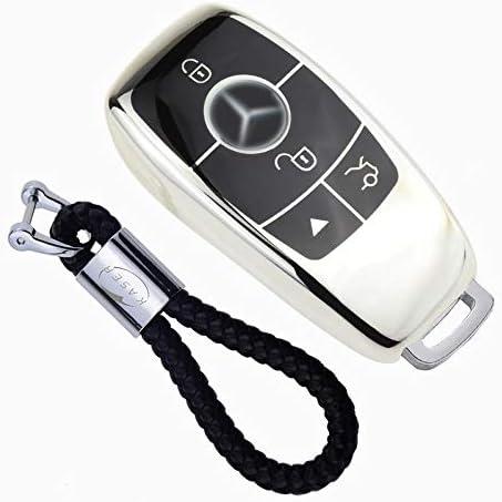 per Benz nuova classe E,S,C,GLC,W213 Telecomando intelligente Cover per Portachiavi per Auto in Lega di Zinco con Portachiavi Guscio Chiave per Benz Auto Caso Chiave per Mercedes