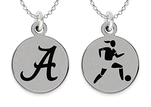 College Jewelry University of Alabama Crimson Tide Women's Soccer Charm Necklace by College Jewelry
