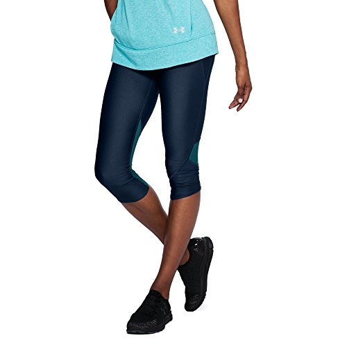 Under Armour Womens Armour Fly Fast Capri, Academy /Reflective, X-Small by Under Armour (Image #1)