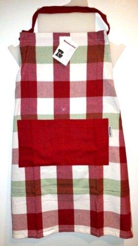 (KitchenAid Red Green and White Christmas Cotton Apron (Plaid))