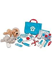 "Melissa & Doug Examine & Treat Pet Vet Play Set (Animal & People Play Sets, Helps Children Develop Empathy, 24 Pieces, 10.5"" H x 13.5"" W x 3.5"" L)"