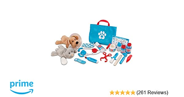 Amazon Com Melissa Doug Examine Treat Pet Vet Play Set
