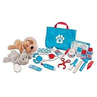 "Melissa & Doug Examine & Treat Pet Vet Play Set (Animal & People Play Sets, Helps Children Develop Empathy, 24 Pieces, 10.5"" H x 13.5"" W x 3.5"" L) (B074L8RV1F)   Amazon price tracker / tracking, Amazon price history charts, Amazon price watches, Amazon price drop alerts"
