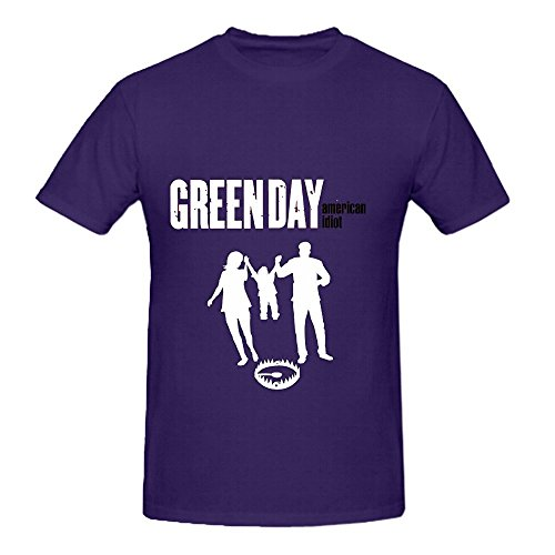 American Idiot Green Day Roll Men O Neck Art Shirts Purple