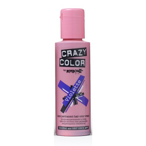 🥇 Crazy Color Semi Permanent Hair Color Cream Violette No.43