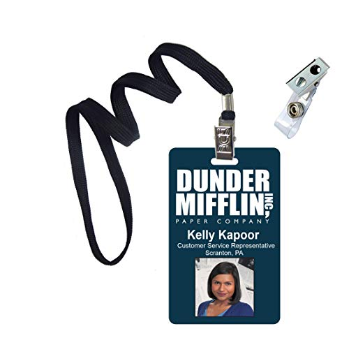 Kelly Kapoor The Office Novelty ID Badge Film Prop for Costume and Cosplay • Halloween and Party Accessories -