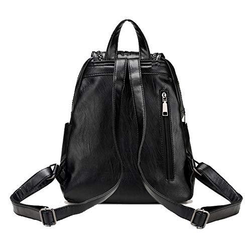 Tout Noir AgooLar Sacs GMBAB203682 Bandouli¨¨re Mode Noir fourre PU ¨¤ Sacs Femme Cuir p74w7xYq