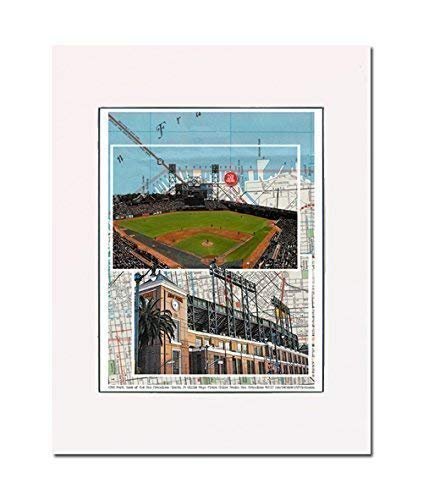 Baseball, San Francisco Stadium, home of the Giants, China Basin, California, art print enhance your home or office Gallery quality Matted and ready-to-frame