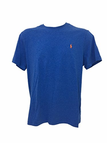 Polo Ralph Lauren Mens Crew Neck T-shirt (Medium, Pac Royal Blue)