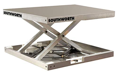 Stationary Manual Lift Scissor Lift Table, 300 lb. Load Capacity, Lifting Height Max. 17-3/4