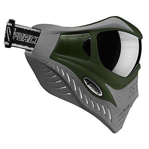 Paintball Mask Olive (V-Force Grill Thermal Paintball Mask / Goggle - Special Color - Olive Drab on Grey)