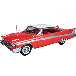1/25 1958 Plymouth Christine Model Kit Horror Car Molded in Red from Ertl Models