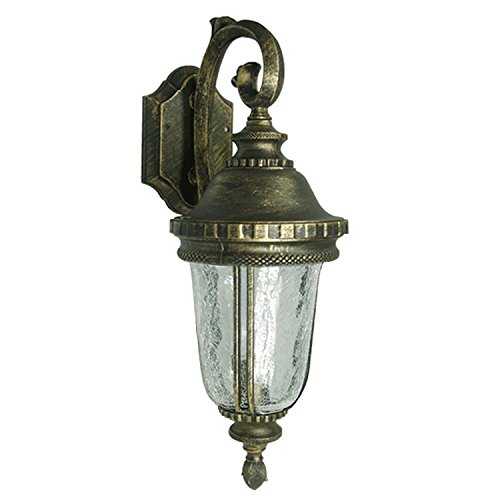 ETOPLIGHTING Bellagio Collection Exterior Outdoor Wall Lantern with Hammered Gla