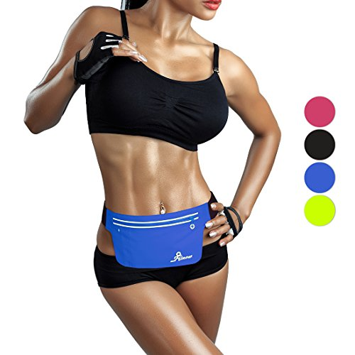 Fitnow Running Belt Outdoor Sports Waist Fanny Packs Fit IPhone 7Plus 6sPlus Samsung S7, Cycling, Hiking, Walking Fitness Workout Belt