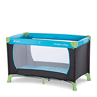 Hauck Kinderreisebett Dream N Play / inklusive Einlageboden und Tasche / 120 x 60cm / ab Geburt / tragbar und faltbar, Wasser (Blau) 7