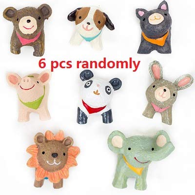 Refrigerator Magnets Funny for Toddlers Animals Heads and Butts A Little Cute (6 pcs heads)