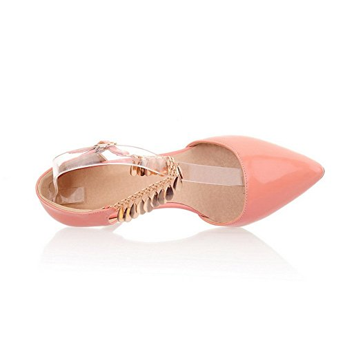 1TO9 Outdoor Patent Leather Metal Chain Girls Pink Sandals 8rwP8q