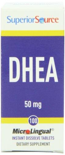 Superior Source DHEA multivitamines, 50 mg, 100 comte